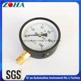 Indicadores de pressão comerciais de tubo comercial Bourdon com dial de 100kpa personalizados