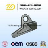 OEM亜鉛は鋳鉄の失われたワックスの鋳造ブラケットをめっきした