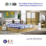 Het Houten Bed van Vietnam met Meubilair van de Slaapkamer van het Leer het Moderne (B706A#)
