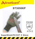 PU Supershield отделки Greatguard более тонкий отрезал перчатку 5 (ST3050KP)