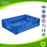 Plástico movente do engranzamento 650*435*160 que dobra a caixa dobrável