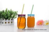 frasco de pedreiro 8oz de vidro com cores bonitas e tampa do Tinplate