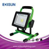 充電電池緊急作業LED屋外の洪水ライト5W 10W 20W