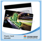 Cartão magnético do PVC do plástico da lealdade do holograma