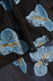 Шнурк-Обшитое панелями гипюром платье Balck Organza Fil Coup&Eacute сексуальное миниое