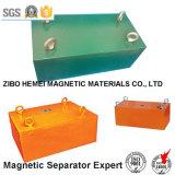 Séparateur magnétique permanent de suspension pour le convoyeur à bande, machines minérales