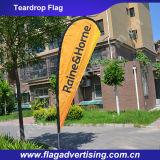 Entrega rápida nenhuma bandeira de praia de anúncio feita sob encomenda do Teardrop de MOQ