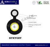 Cabo da fibra óptica com o mensageiro para a antena (GYXYC8Y)