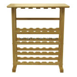 Winsome Wood 24-Bottle Wine Rack com rack de vidro Wine Holder
