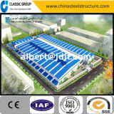 Almacén industrial prefabricado/taller/hangar/fábrica de la estructura de acero de la instalación rápida del bajo costo