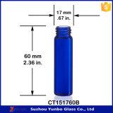 1 D-RAM Kobalt-Blau-Glasphiole mit Tropfenzähler