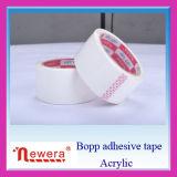 Cinta blanca adhesiva de acrílico a base de agua del pegamento BOPP