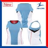 Vêtements de sport de tennis sublimés par teinture entièrement ajustés par dri de Healong