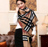 Madame Scarf Women Fashion Shawl de grille de Madame Long Style Tippet Classic