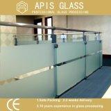 A tela de seda o vidro temperado impresso translúcido em vez do ácido gravou vidro Tempered