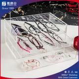 Caixa de armazenamento acrílica desobstruída de papel de venda da composição do fornecedor de China a melhor
