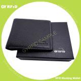 Contante geld van het van bedrijfs mensen de Korte Portefeuille van het Leer met RFID het Blokkeren, NFC het Blokkeren, de Anti-diefstal Houder van de Beschermer van de Functie Veilige