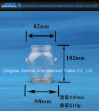 200-300ml löschen Glasglas für Honig-, Flüssigkeit-und Nahrungsmittelspeicher