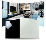 Reine schwarze Farben-Polierporzellan-Fußboden-Fliese (VPI6003C, 600X600mm)