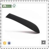 Perchas de capa plásticas del nuevo del diseño del oro negro plástico de la percha para la ropa