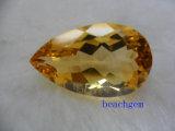 중간 색깔 자연적인 느슨한 레몬빛 원석