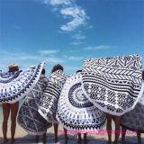 円形の高品質のWholeasleの円によって印刷されるビーチタオル