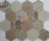 Mosaico di cristallo del reticolo di vetro del getto di inchiostro di esagono nuovo (CFC659)