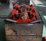 Karton-Kasten-stempelschneidene faltende Maschine mit dem Entfernen, heiße Aushaumaschine