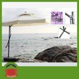 مربّعة حديقة مظلة مع حامل قفص