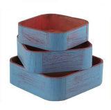Sin terminar cajón de madera para embalaje de frutas, vino