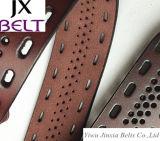 Пояс Cowhide реального кожаный человека высокого качества кожаный