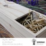 Rectángulo de madera del vino de Hongdao para el día de fiesta o las vacaciones