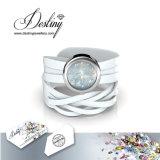 Het Kristal van de Juwelen van het lot van het Horloge van het Leer van de Omslag Swarovski