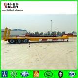 三低の車軸平面60トンのローディングのための低いベッドのトレーラー