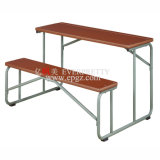School durável Furniture Wooden Double Student Desk e Chairs