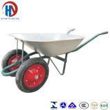 Wheelbarrow das rodas do zinco dois