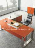 L mesa de escritório moderna da forma com pé do aço inoxidável (HF-SIA01)