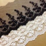 Cordón del bordado de la alta calidad para los accesorios de la ropa