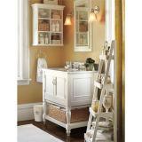 Cabina de cuarto de baño de madera del suelo del diseño simple