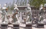 Garten-Steinvierjahreszeitenskulptur mit Sandstein-Marmor (SY-X1128)