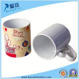 tazas blancas de cerámica 11oz con la maneta del corazón