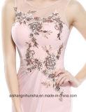 Abend-Kleid-Chiffon- Sleeveless aufgefüllte lange Nixe-Brautjunfer-Kleider