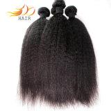 Extensão natural reta Kinky do cabelo do cabelo cambojano por atacado do Virgin 8A