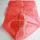 Roter Röhrennettobeutel für Kartoffel und Zwiebel der Verpackungs-30kg