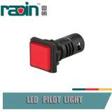 Interruptor de tecla verde vermelho principal circular/quadrado com luz piloto