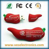 Dessin animé de lecteur flash USB de PVC de coutume du cadeau 100% de promotion