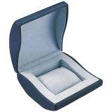 Caixa de armazenamento de couro luxuosa do indicador da embalagem do relógio (W22)
