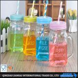 Multi-Funtional vaso di muratore della bottiglia di vetro per spremuta, bevanda