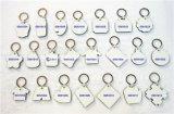 클립과 굴렁쇠를 가진 단 하나 마스크 인쇄할 수 있는 MDF Keychain 광고