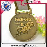 Retro medaglia del metallo di disegno con il nastro personalizzato